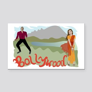 Singing Bollywood Rectangle Car Magnet