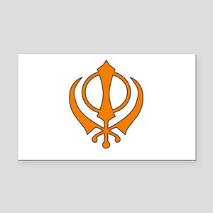 Khanda Rectangle Car Magnet