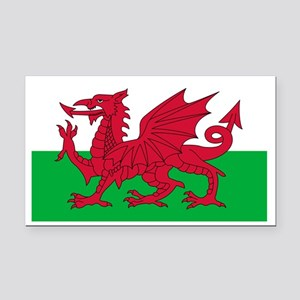 wales-flag-4000w Rectangle Car Magnet