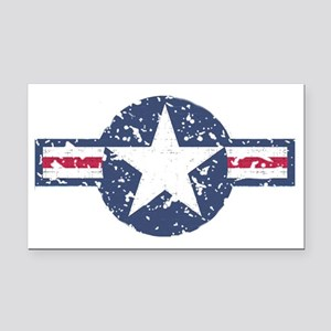 Faded Air Force Logo Rectangle Car Magnet