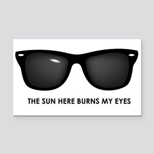 The Sun Here Burns My Eyes Rectangle Car Magnet