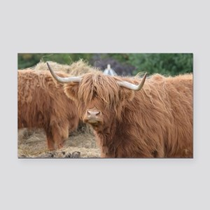 Cute Highland Cow Rectangle Car Magnet