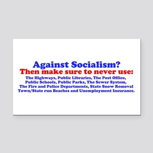 Socialism Bumper Stickep Rectangle Car Magnet
