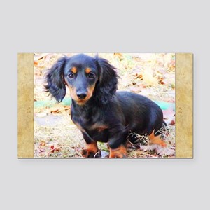 Puppy Love Doxie Rectangle Car Magnet