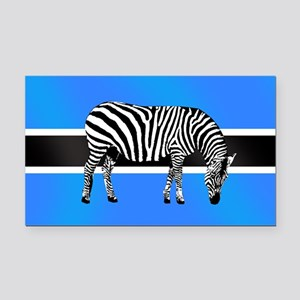 Botswana Zebra Flag Rectangle Car Magnet