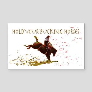 Funny Bucking Horse Car Magnets - CafePress