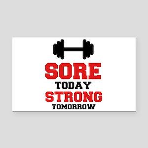Sore Today Strong Tomorrow Rectangle Car Magnet