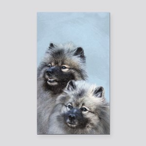 Keeshond Brothers Rectangle Car Magnet