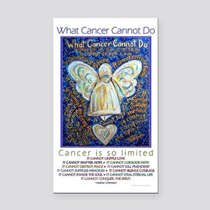 Blue & Gold Cancer Angel Rectangle Car Magnet