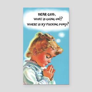 Dear God Rectangle Car Magnet