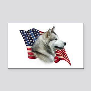 AlaskanMalFlag Rectangle Car Magnet