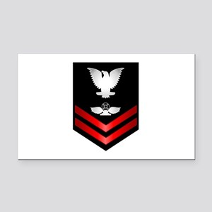 Navy PO2 Air Traffic Control Rectangle Car Magnet
