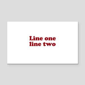 Two Line Custom Message in Dark Red Rectangle Car