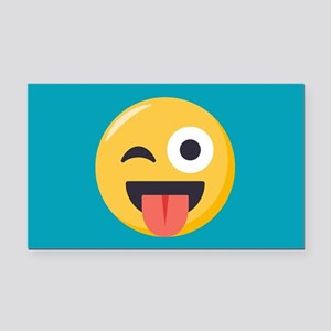 Winky Tongue Emoji Rectangle Car Magnet