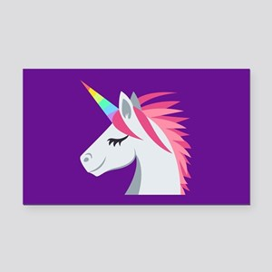 Unicorn Emoji Rectangle Car Magnet