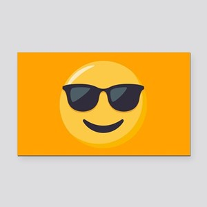 Sunglasses Emoji Rectangle Car Magnet