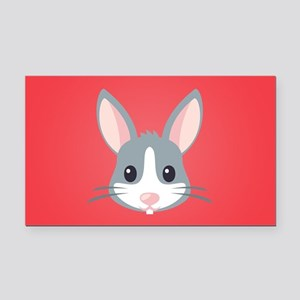 Rabbit Rectangle Car Magnet