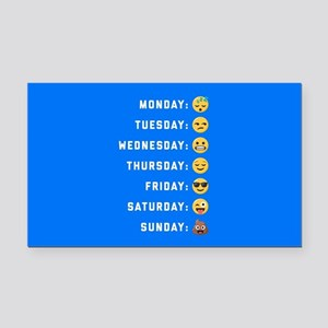 Emoji Days of the Week Rectangle Car Magnet