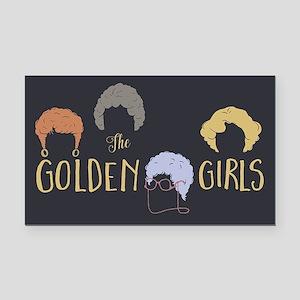 Golden Girls Minimalist Rectangle Car Magnet