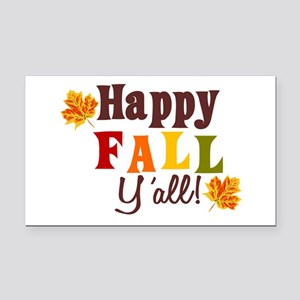 Happy Fall Yall! Rectangle Car Magnet