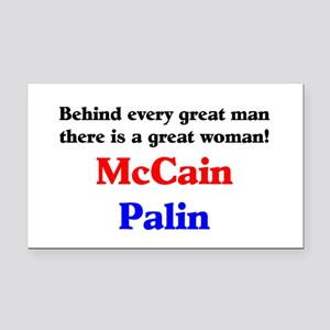 McCain Palin Rectangle Car Magnet