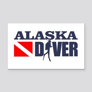 Alaska Diver Rectangle Car Magnet