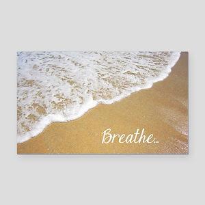 Just Breathe... Rectangle Car Magnet