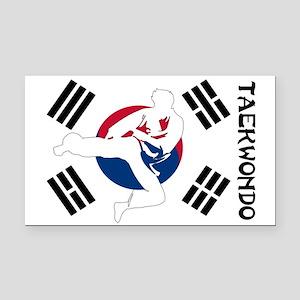 Taekwondo Rectangle Car Magnet