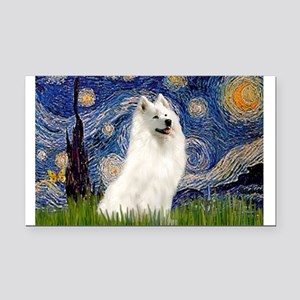 Starry / Samoyed Rectangle Car Magnet