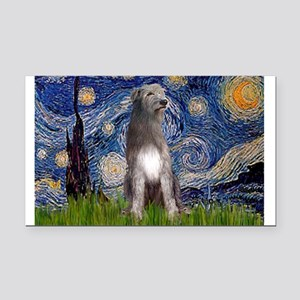 Starry/Irish Wolfhound Rectangle Car Magnet