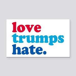 love trumps hate Rectangle Car Magnet