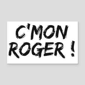 common Roger Federer Rectangle Car Magnet