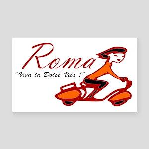 ROME SCOTTER GIRL Rectangle Car Magnet