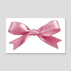 Pink Bow Rectangle Car Magnet