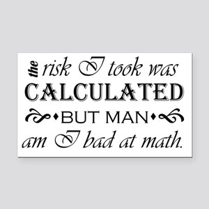 calculated risk Rectangle Car Magnet