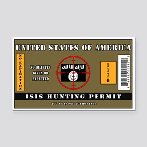 ISIS Hunting Permit Rectangle Car Magnet