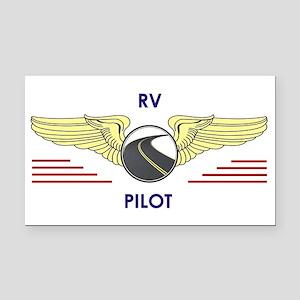 Rv Pilot Rectangle Car Magnet