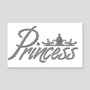Diamond Princess and Tiara Rectangle Car Magnet
