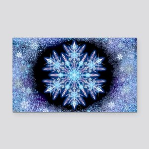 October Snowflake - wide Rectangle Car Magnet