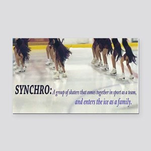 Synchro Defined Rectangle Car Magnet