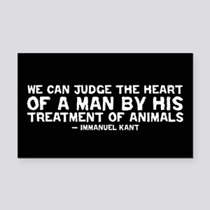 Quote - Kant - Heart of a man Rectangle Car Magnet