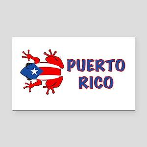 Puerto Rico - PR - Coqui Rectangle Car Magnet