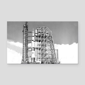 Saturn V Rectangle Car Magnet