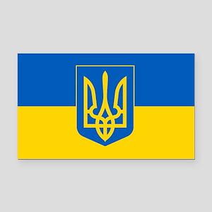 Ukrainian Flag Rectangle Car Magnet