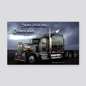 Truckers Rectangle Car Magnet