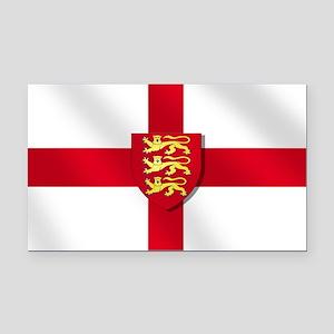 England Three Lions Flag Rectangle Car Magnet