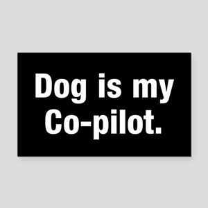 Dog Is My Co-Pilot Rectangle Car Magnet