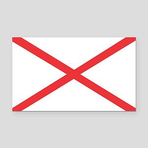 Alabama State Flag Rectangle Car Magnet