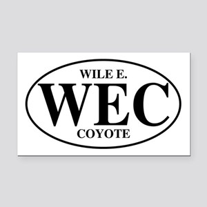 Wile E Coyote Rectangle Car Magnet