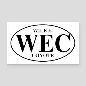 Wile E Coyote Rectangle Car Magnet
